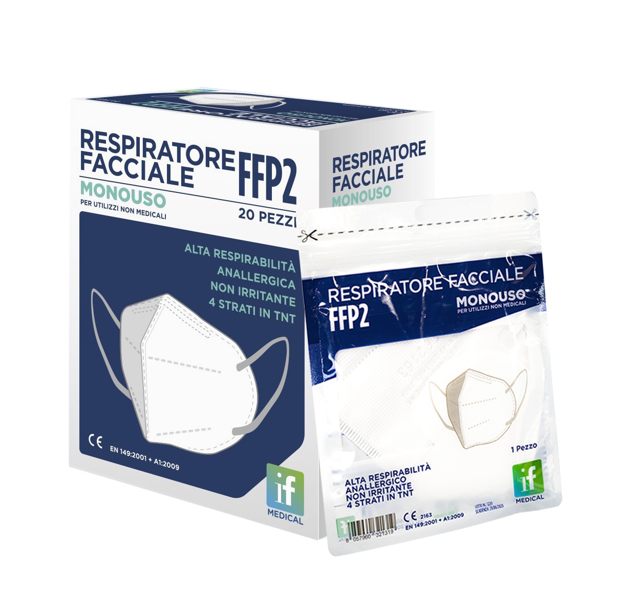 Packaging Respiratori FFP2